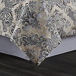 J. Queen New York Glendale Queen 4 Piece Comforter Set, Indigo, rollover