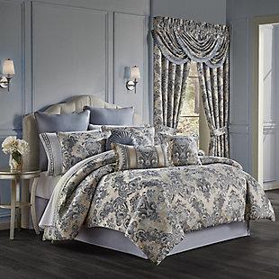 J. Queen New York Glendale Queen 4 Piece Comforter Set, Indigo, large