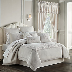 J. Queen New York Angeline Queen 4 Piece Comforter Set, Beige, large