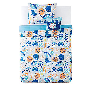 Pem America All Star Full 4 Piece Comforter Set, Blue, large