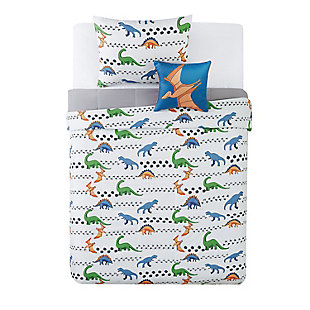 Pem America Dino Tracks Twin 3 Piece Comforter Set, Multi, large