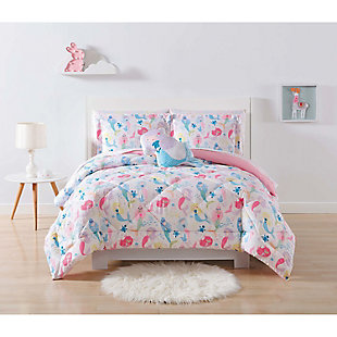 Pem America Mermaids Twin Extra Long Comforter Set, , rollover