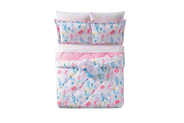 Pem America Mermaids Twin Extra Long Comforter Set, , large