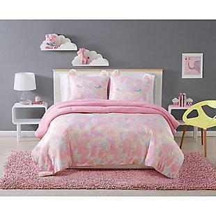 Pem America Rainbow Sweetie Twin Comforter Set, Pink, rollover
