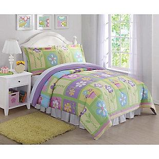 Pem America Sweet Helena Twin Comforter Set, Multi, rollover