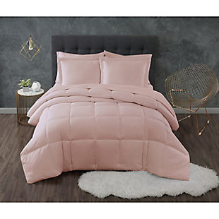 Truly Calm Antimicrobial 3 Piece King Down Alternative Comforter Set, Blush, large