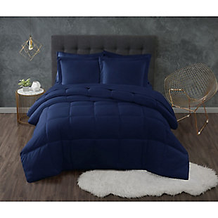 Truly Calm Antimicrobial 2 Piece Twin/Twin XL Comforter Set, Navy, rollover
