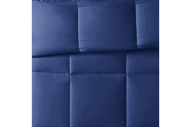 Truly Calm Antimicrobial 2 Piece Twin/Twin XL Comforter Set, Navy, large