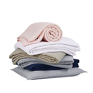 Truly Calm Antimicrobial 3 Piece Full/Queen Quilt Set, Blush, large
