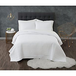 Truly Calm Antimicrobial 2 Piece Twin/Twin XL Quilt Set, White, rollover