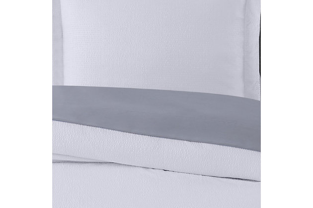 Truly Calm Antimicrobial 5 Piece Twin XL Bed in a Bag, White/Gray, large