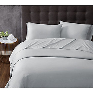 Truly Calm Antimicrobial 3 Piece Twin Sheet Set, Gray, rollover