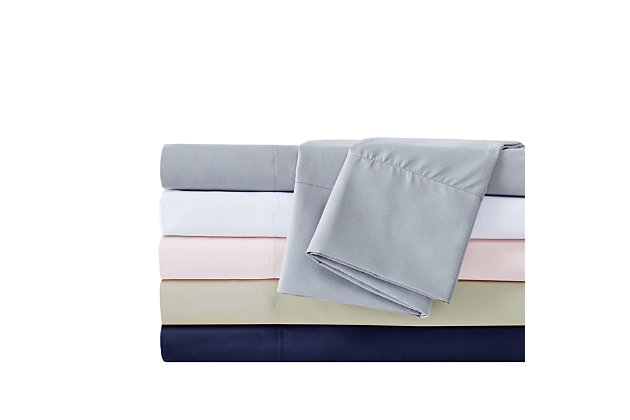 Truly Calm Antimicrobial 4 Piece Full Sheet Set, Gray, large