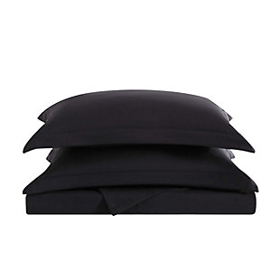 Truly Soft Everyday 3 Piece Twin XL Duvet Set, Black, large