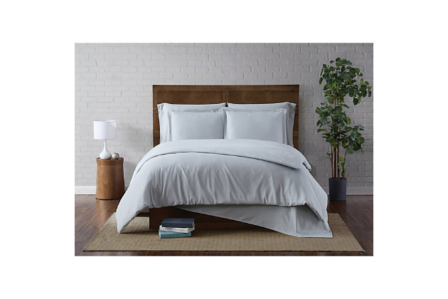 Truly Soft Everyday 3 Piece Twin XL Duvet Set, Silver Gray, large