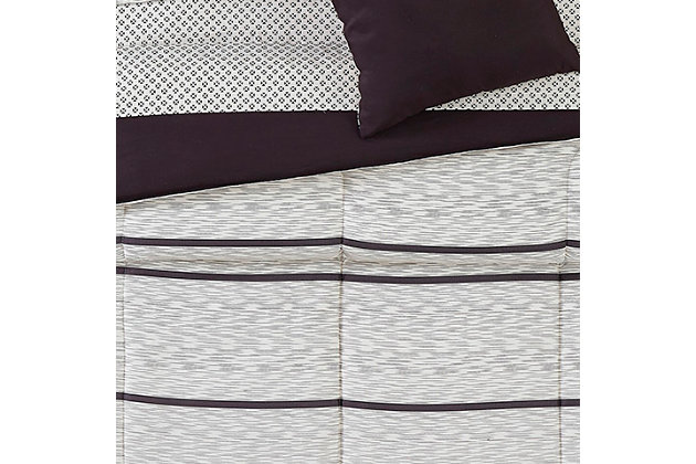 Truly Soft Stanton 9 Piece Twin Bed in a Bag, Ivory/Black, large