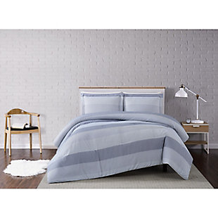 Truly Soft Multi Stripe 2 Piece Twin XL Comforter Set, Gray, rollover