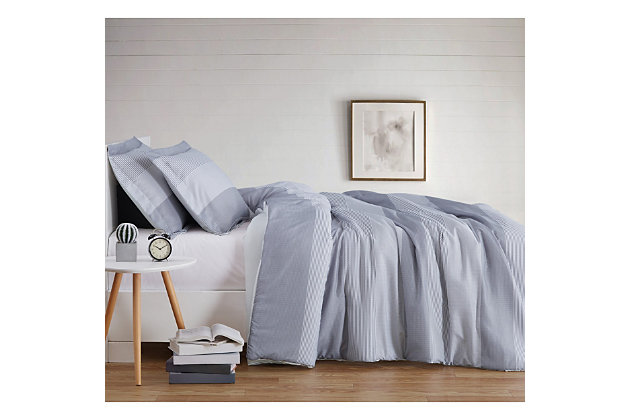 Truly Soft Multi Stripe 2 Piece Twin XL Comforter Set, Gray, large
