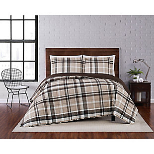 Truly Soft Paulette Plaid 2 Piece Twin XL Quilt Set, Taupe, rollover