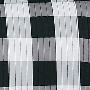 Truly Soft Everyday Buffalo Plaid 2 Piece Twin XL Comforter Set, White/Black, large