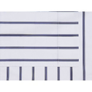 Truly Soft Ticking Stripe 4 Piece Queen Sheet Set, White/Navy, large