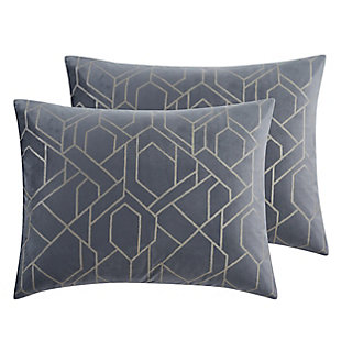 5th Avenue Lux Madison 7 Piece Queen Comforter Set, Gray, large