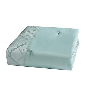 5th Avenue Lux Roya 7 Piece Queen Comforter Set, Light Blue, large