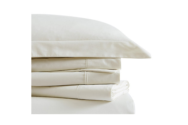 Brooklyn Loom Classic Cotton 4 Piece Full Sheet Set, Ivory, large