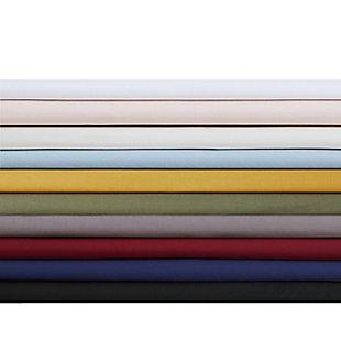 Brooklyn Loom Classic Cotton 4 Piece Full Sheet Set, Light Blue, large