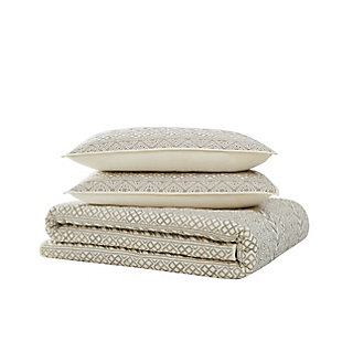 Brooklyn Loom Chase 2 Piece Twin/Twin XL Quilt Set, Cream/Black, large