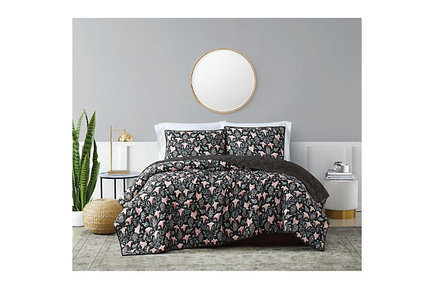 Brooklyn Loom Galinda 2 Piece Twin/Twin XL Quilt Set, Black Multi, large