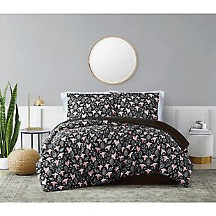 Brooklyn Loom Galinda 2 Piece Twin/Twin XL Comforter Set, Black Multi, rollover