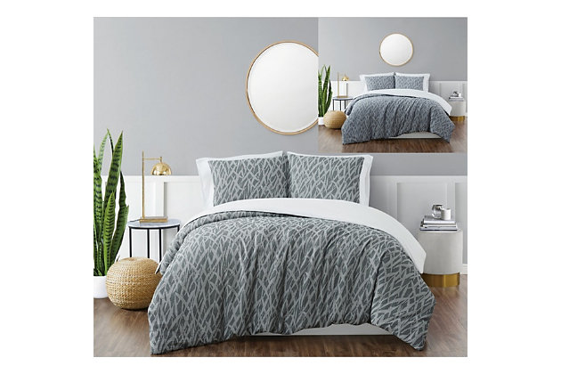 Brooklyn Loom Honey Waffle 2 Piece Twin/Twin XL Comforter Set, Blue, large