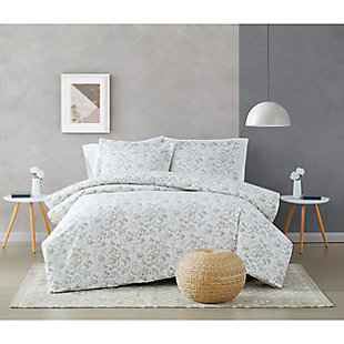 Brooklyn Loom Jasper 2 Piece Twin/Twin XL Comforter Set, Gray, rollover