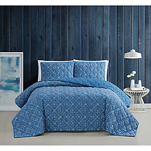 Brooklyn Loom Katrine 2 Piece Twin/Twin XL Quilt Set, Blue, rollover