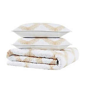 Brooklyn Loom Merill 2 Piece Twin/Twin XL Quilt Set, White/Gold, large