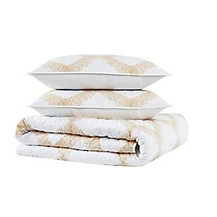 Brooklyn Loom Merill 2 Piece Twin/Twin XL Quilt Set, White/Gold, large