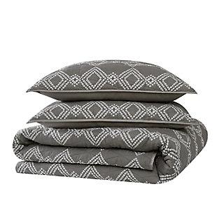 Brooklyn Loom Nina 2 Piece Twin/Twin XL Quilt Set, Gray, large