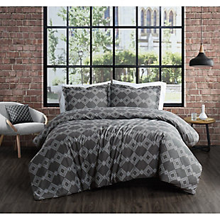 Brooklyn Loom Nina 2 Piece Twin/Twin XL Comforter Set, Gray, rollover