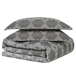 Brooklyn Loom Nina 2 Piece Twin/Twin XL Comforter Set, Gray, large