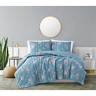Brooklyn Loom Paulina 2 Piece Twin/Twin XL Quilt Set, Blue, rollover