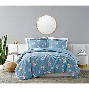 Brooklyn Loom Paulina 2 Piece Twin/Twin XL Comforter Set, Blue, rollover