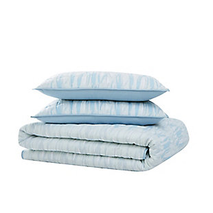 Brooklyn Loom Trevor 2 Piece Twin/Twin XL Quilt Set, Blue/White, large
