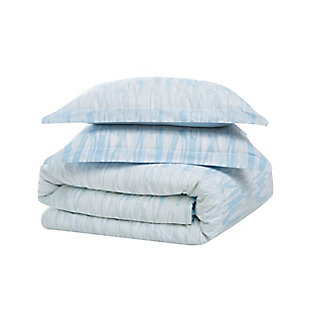 Brooklyn Loom Trevor 2 Piece Twin/Twin XL Comforter Set, Blue/White, large