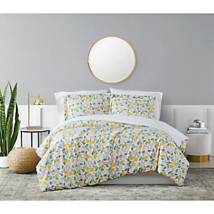 Brooklyn Loom Verbena 3 Piece Full/Queen Duvet Set, Multi, rollover