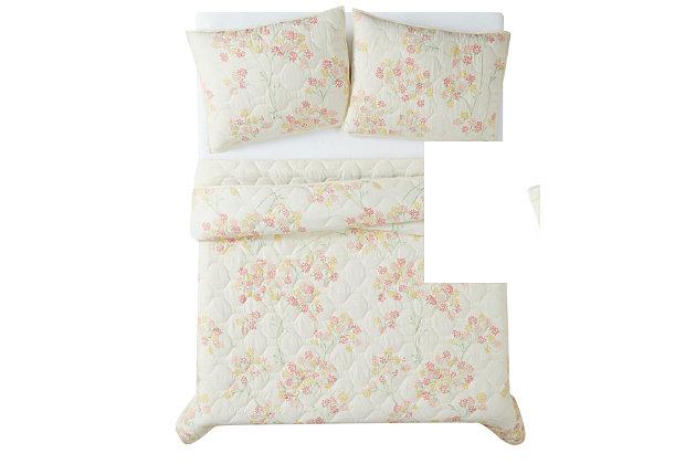 Brooklyn Loom Vivian 2 Piece Twin/Twin XL Quilt Set, Off White Multi, large