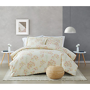 Brooklyn Loom Vivian 2 Piece Twin/Twin XL Comforter Set, Off White Multi, rollover