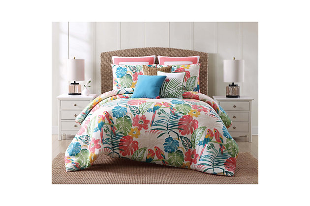 Oceanfront Resort Coco Paradise 2 Piece Twin XL Quilt Set, Multi, large