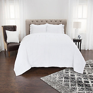 Cotton Claire Twin Quilt, White, rollover