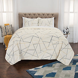 Cotton Julian Twin Quilt, Ivory, rollover